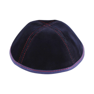 Navy Velvet, Red Stitching 4 Way