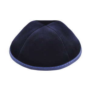 Navy Velvet, Royal Blue Stitching