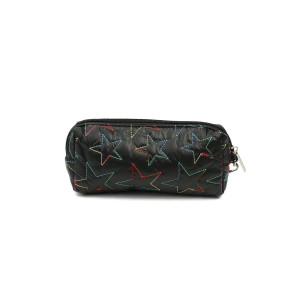 Pencil Case - Black Stars