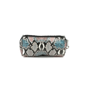 Pencil Case - Pink and Blue Snakeskin