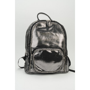 Chain Backpack - Silver