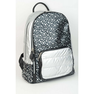 Backpack Stars - Black silver