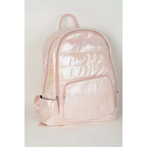 Backpack Puffy - Light pink shimmer