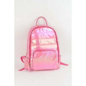 Backpack Puffy - Hot pink shimmer
