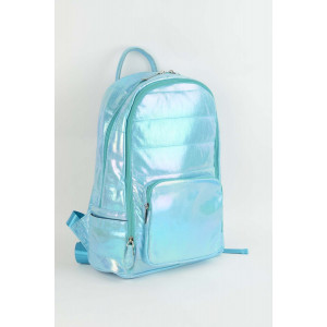 Backpack Puffy - Aqua shimmer