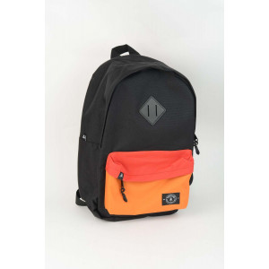 Backpack - Black Orange Red Pocket