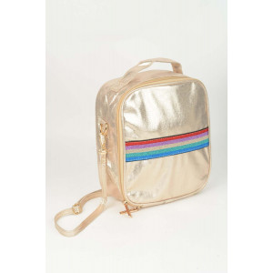 Lunch Box - Rose Gold Stripe