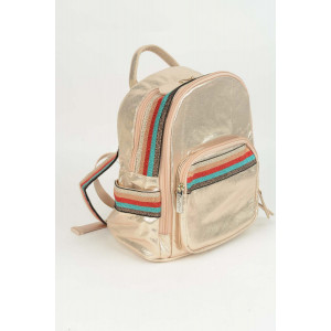 Mini Backpack - Rose gold Gucci stripe