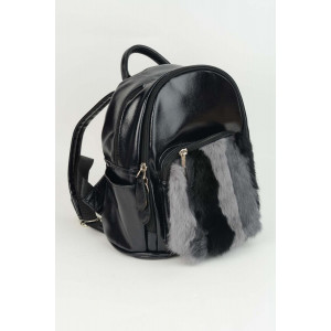 Mini Backpack - Black fur