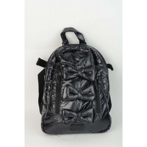 Mini Bow Back Pack - Black