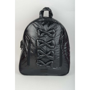 Midi Bow Backpack - Black