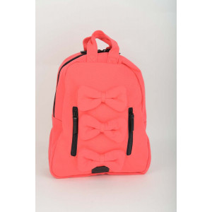 Mini Bow Back Pack - Coral canvas