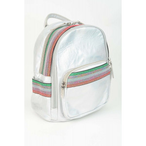Mini Backpack - Rainbow Silver Red Green