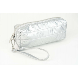 Puffy Pencil Case  - Matt Silver