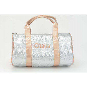 Two Tone Puffy Duffel - Rose Gold Silver